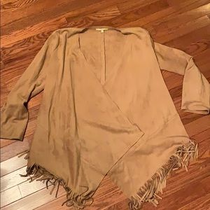 GB suede Fringe Jacket